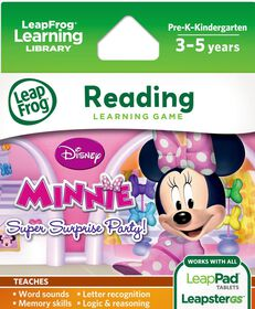 LeapFrog - Explorer Game Cartridge: Disney Minnie Mouse Bowtique Super Surprise Party! English Edition