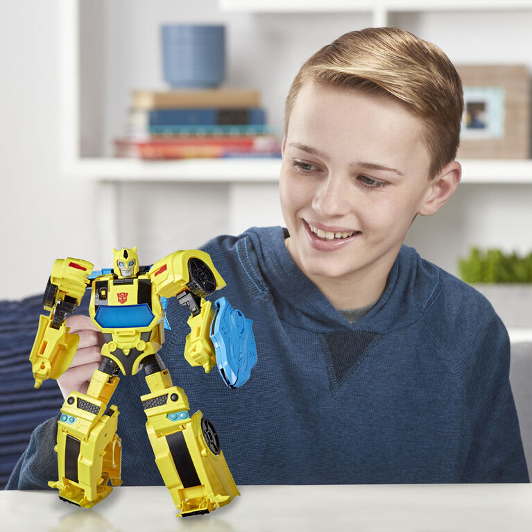 Transformers Bumblebee Cyberverse Adventures Battle Call Officer Class Bumblebee, Voice Activated Energon Power Lights and Sounds - English Edition