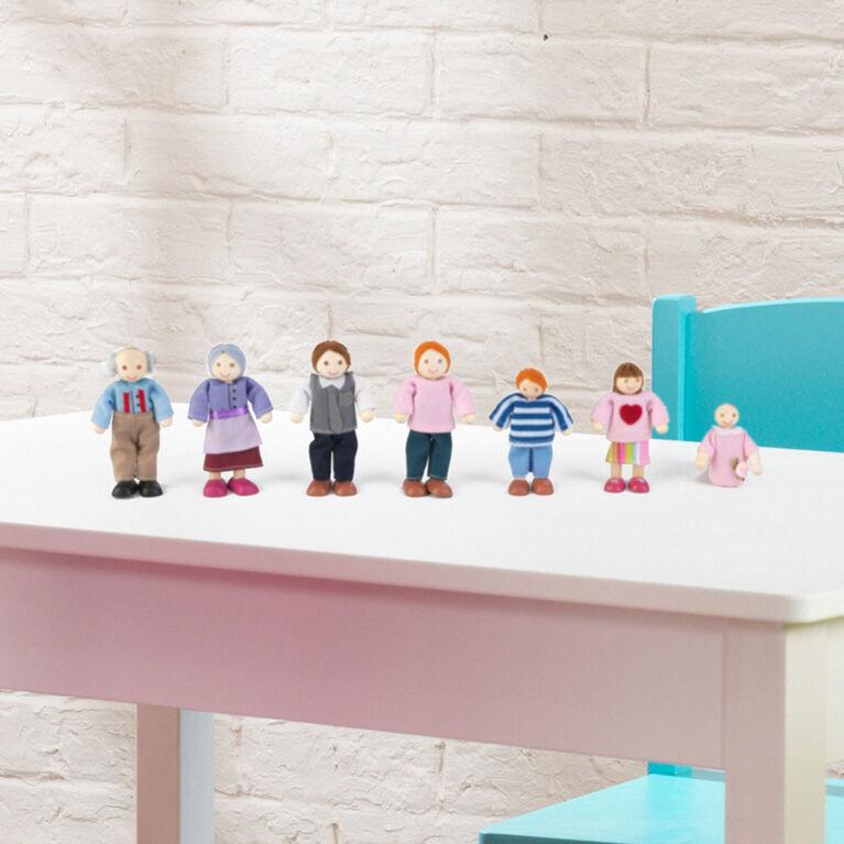 KidKraft - Doll Family of 7 - Caucasian
