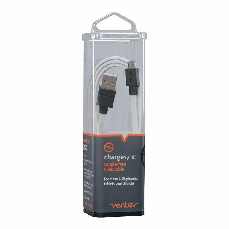 Ventev Câble de Charge/Sync Micro USB 3.3ft Blanc
