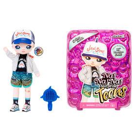 "Na! Na! Na! Surprise Teens Fashion Doll – Quinn Nash, 11"" Soft Fabric Boy Doll, Shark Inspired"