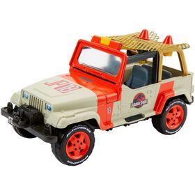 Matchbox - Jurassic World - Jeep Wrangler avec filet de sauvetage