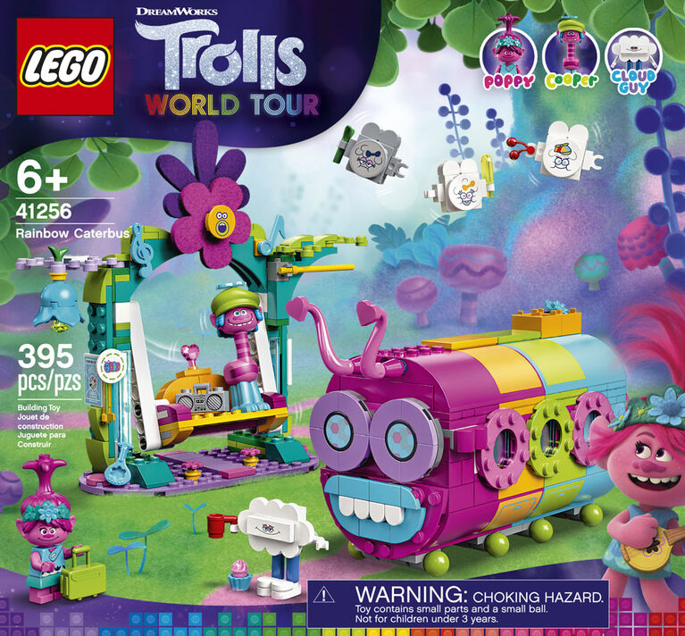 LEGO Trolls Le bus chenille arc-en-ciel 41256
