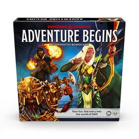Dungeons & Dragons Adventure Begins, Cooperative Fantasy Board Game - English Edition