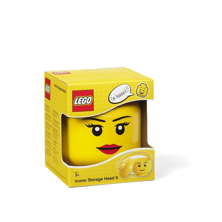 Tete de Rangement LEGO Petite Fille