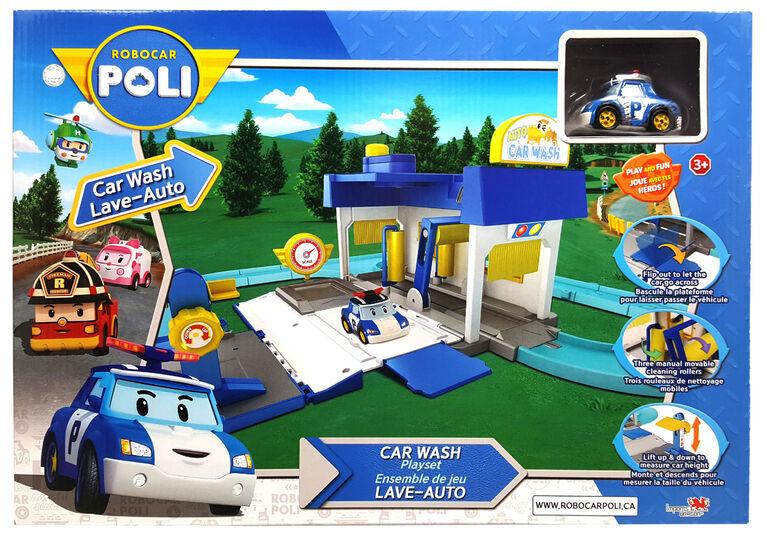Robocar Poli - Ensemble de jeu Lave-Auto