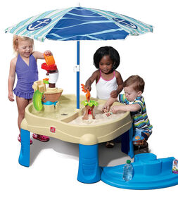 Step2 - Sail Away Adventure Sand & Water Table With Umbrella - R Exclusive