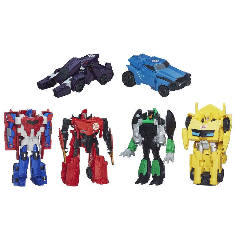 Transformers Robots in Disguise, La collection One Step, paquet de 6 figurines - Notre exclusivité