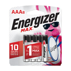 Energizer Max AAA8 batteries