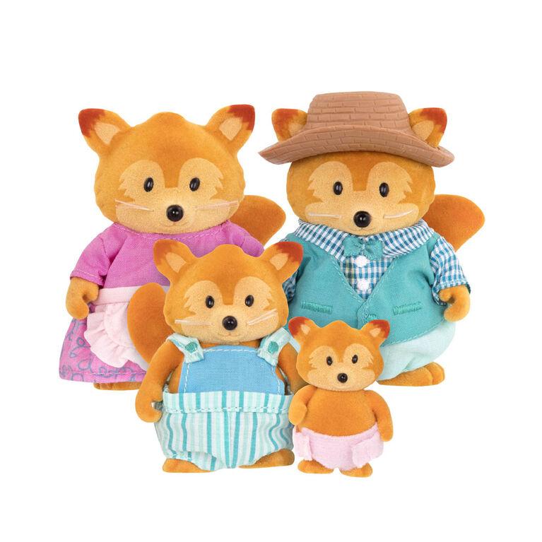 Tippytail Renards, Li'l Woodzeez, Ensemble de petites figurines de renards
