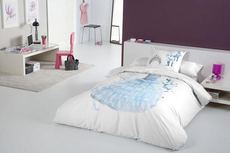 Gouchee Design - Princess Blue Digital Print Twin Duvet Cover Set