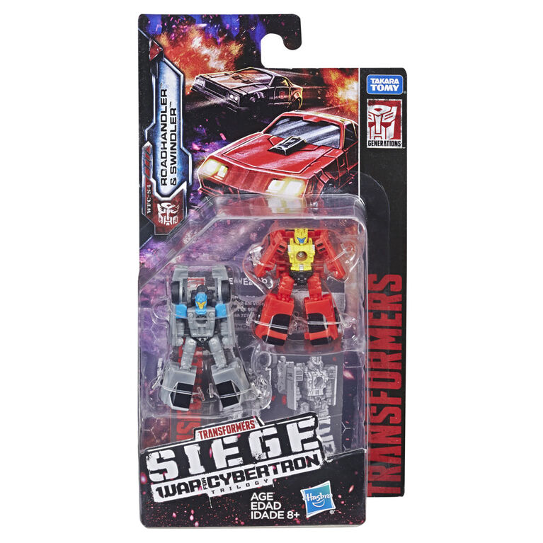 Transformers Generations War for Cybertron: Siege Micromaster Autobot Race Car Patrol 2-pack Action Figure