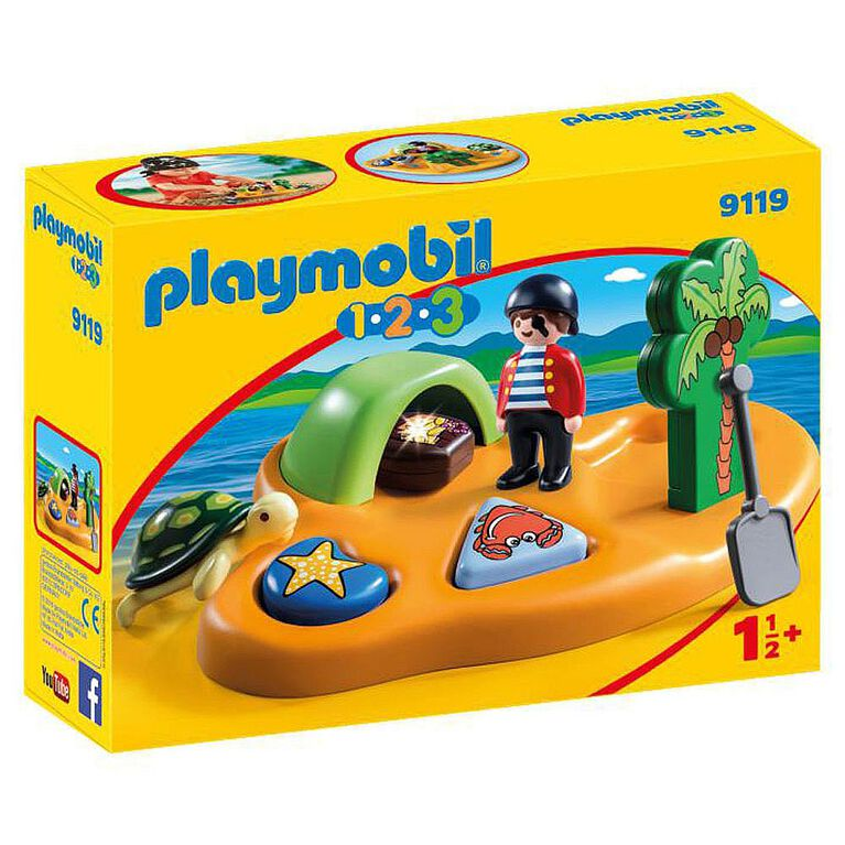 Playmobil 1.2.3. - Pirate Island (9119)
