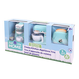 Just Like Home - Classy Kitchen Appliance Trio - Blue