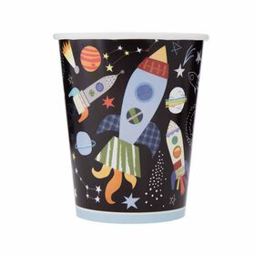 Outer Space 9oz Paper Cups, 8 pieces