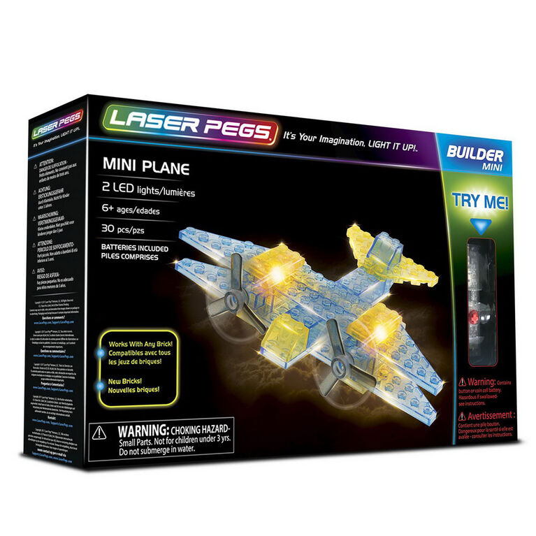 Laser Pegs Mini Plane  Building Set
