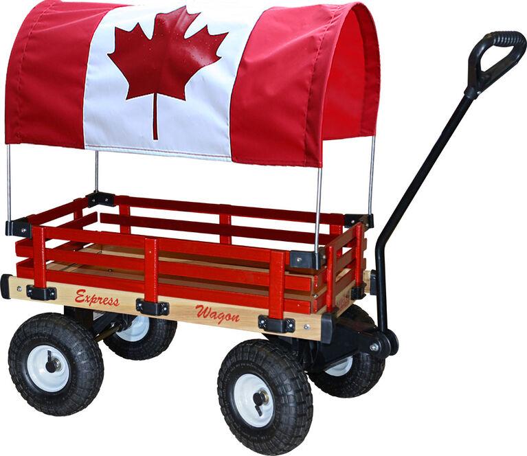 "Millside Canadian Flag Canopy For 16"" X 34"" Wagon"