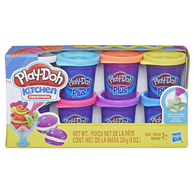 Play-Doh Kitchen Creations - Ensemble de 8 pots Play-Doh Plus