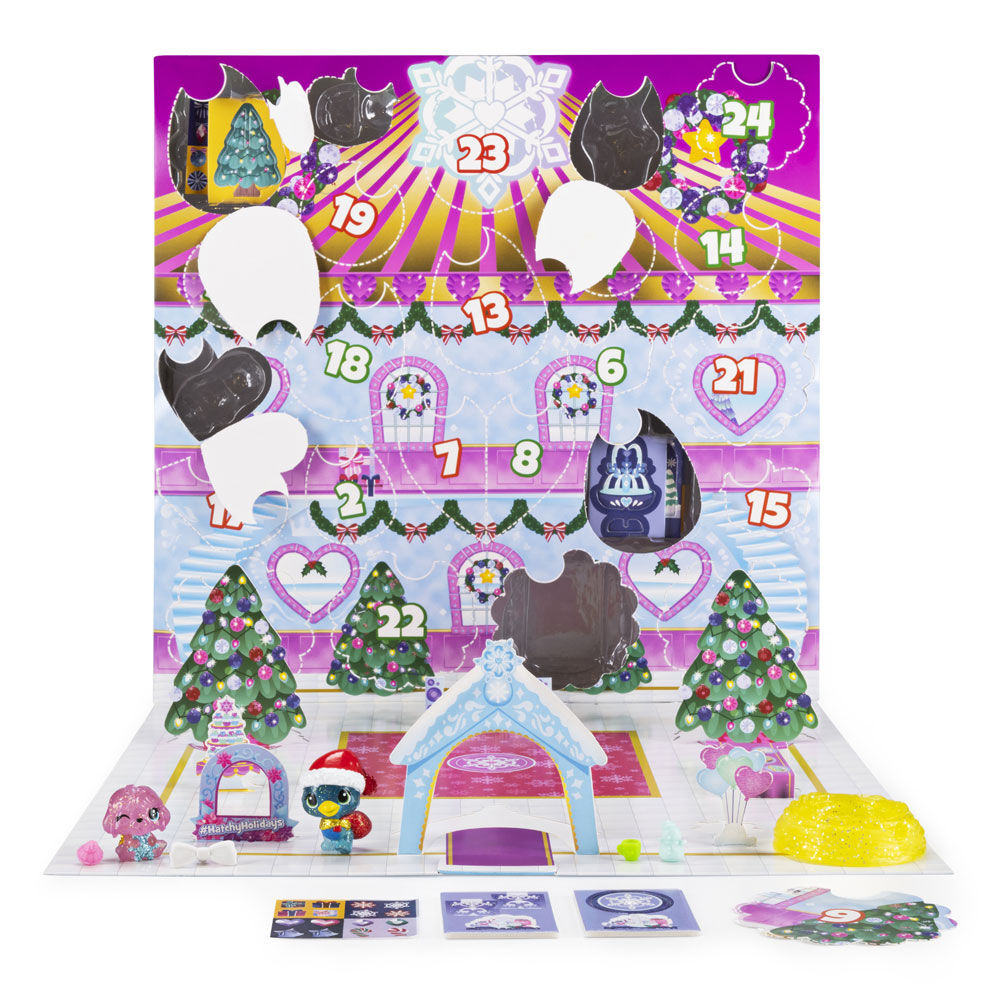 Advent Calendar With Exclusive Characters  Paper Cra Hatchimals Colleggtibles