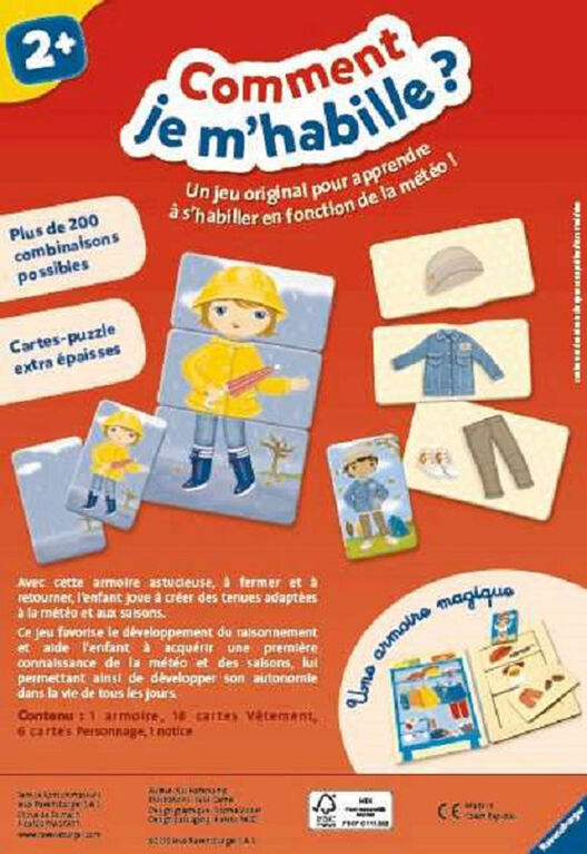 Ravensburger! How do I dress? Game - French Edition
