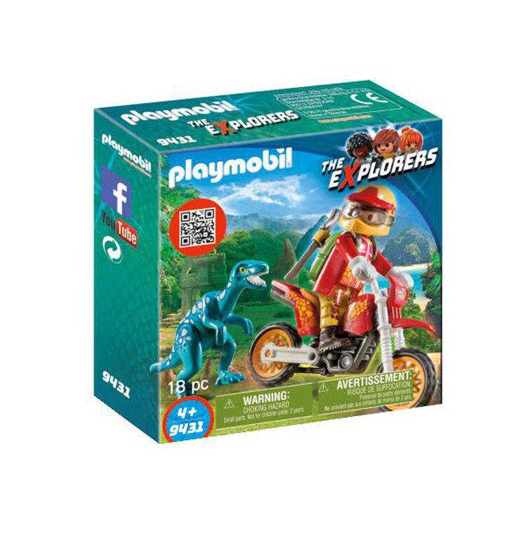 Playmobil - Motorcross Bike with Raptor (9431)