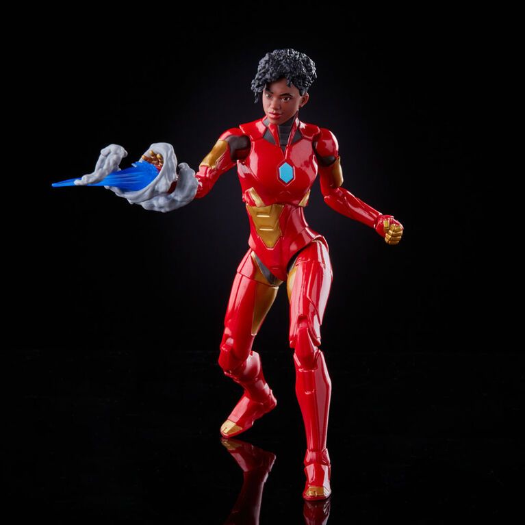 Hasbro Marvel Legends Series 6-inch Ironheart Action Figure Toy, Premium Design and Articulation, 5 Accessories and 1 Build-A-Figure Part