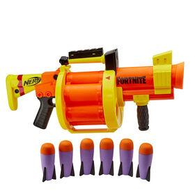 Blaster Nerf Fortnite RL, barillet 6 roquettes, pomper pour tirer, inclut 6 roquettes Nerf Fortnite officielles