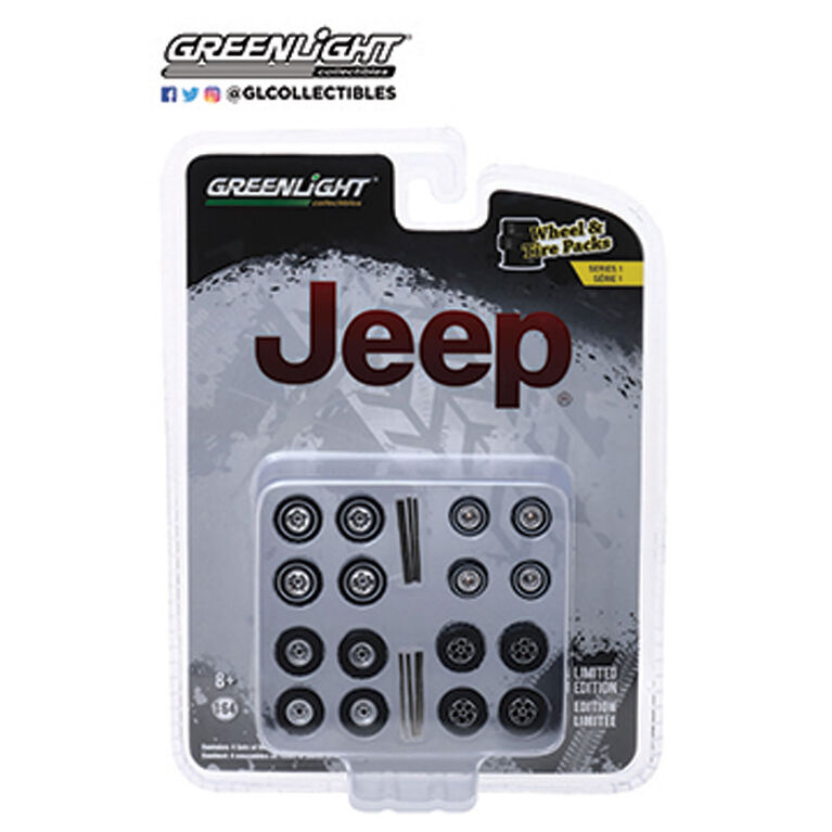 1:64 Auto Body Shop  Jeep -Grey &Black