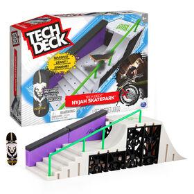 Tech Deck, Nyjah Skatepark X-Connect Park Creator, Coffret rampe à construire et à personnaliser avec fingerboard exclusif