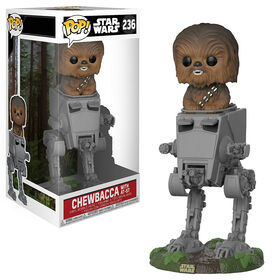 Funko POP Deluxe! Movies: Star Wars - Chewbacca on AT-ST Vinyl Figure
