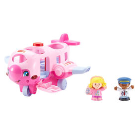 Fisher-Price Little People Travel Together Airplane - Pink - English Edition
