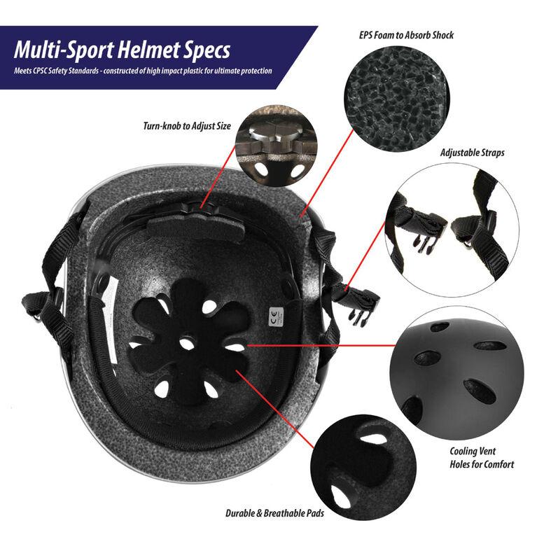 Sport Runner Youth Multi Sport Helmet - Black - R Exclusive