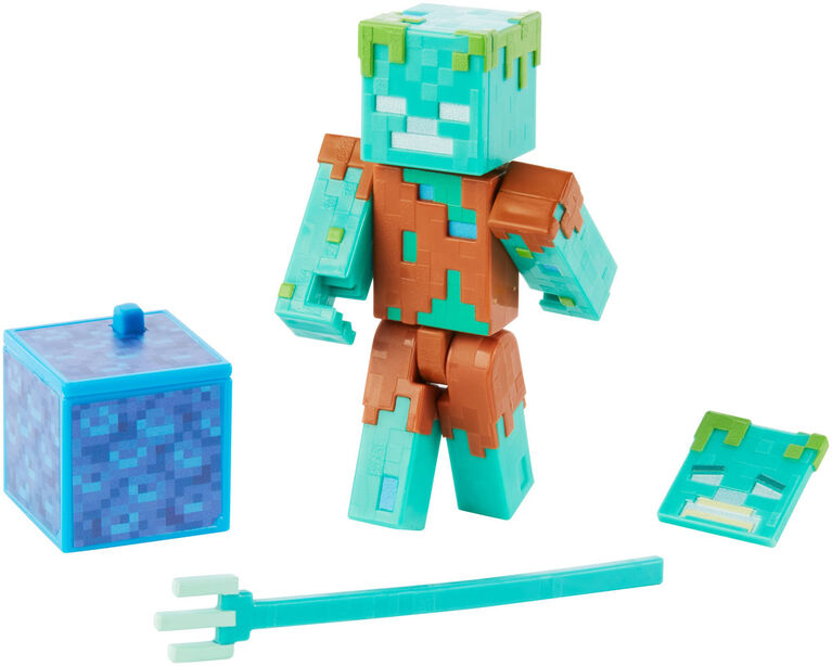 Minecraft Comic Maker Drowned Action Figure - English Edition