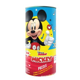 Disney Mickey Mouse 24-Piece Jigsaw Puzzle in Tube