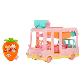 BABY BORN Surprise Bus Playset with 2 exclusive twin mini babes/ 6-in-1 playground on the go for all your BABY BORN Surprise collectible pets and babies/ can fit 20+ BABY BORN Surprise Mini Babies. Great gift and toy for kids ages 3 and up