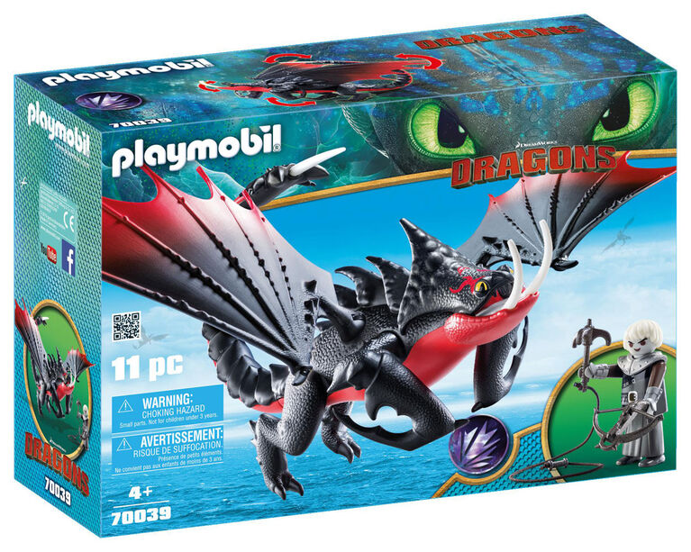 Playmobil - How To Train Your Dragon -  Agrippemort et Grimmel