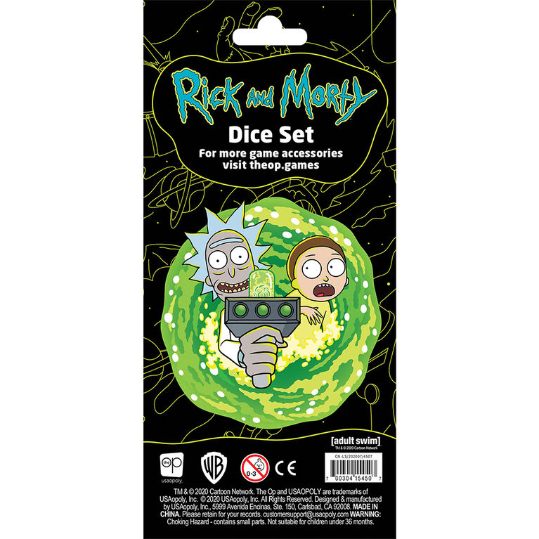 Rick and Morty Dice Set - English Edition