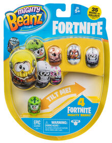 Mighty Beanz Fortnite - Emballage de 4.