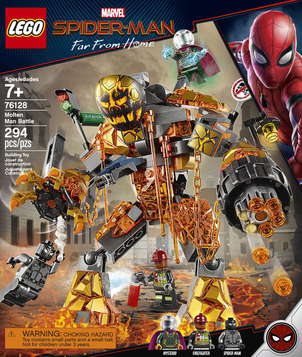 LEGO Fireman Minifigure Split From LEGO Spider-Man 76128