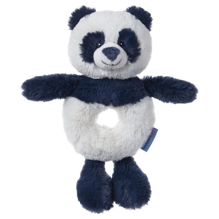 Baby GUND, Hochet panda Toothpick de 19 cm en peluche, bleu/blanc