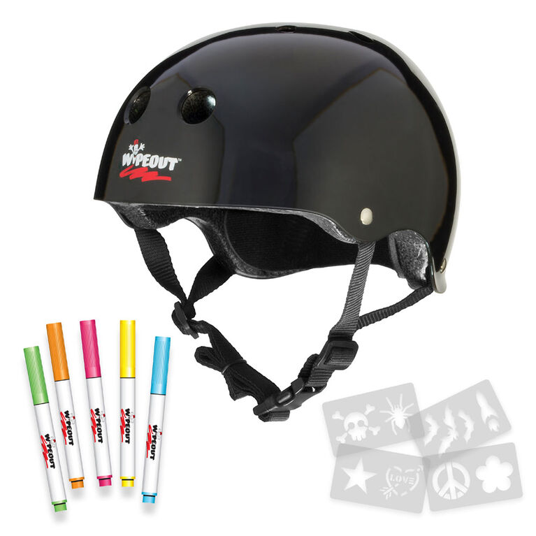 Wipeout - Helmet - 5+ Black