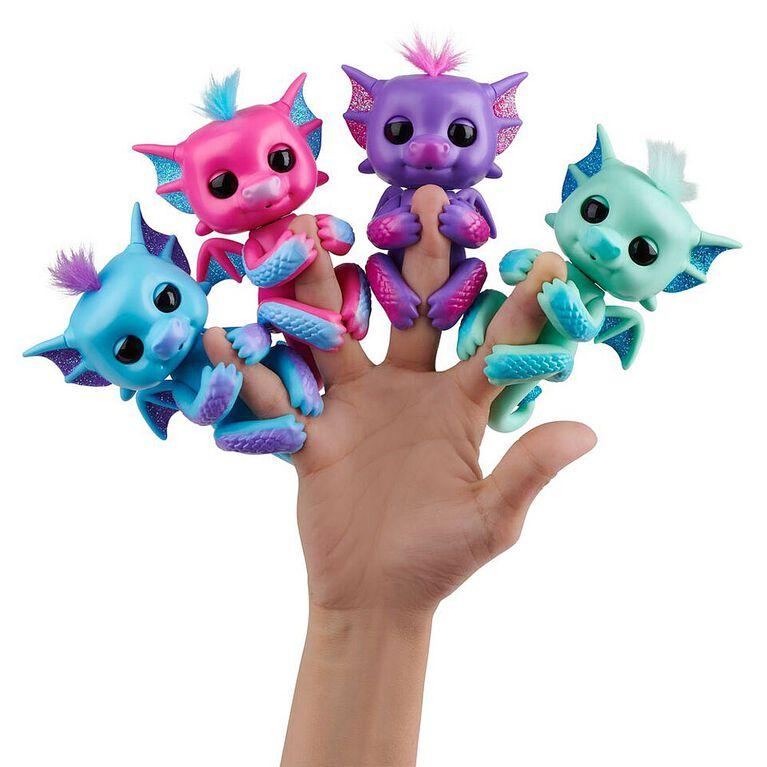 Dragons scintillants Fingerlings -  Noa (Vert-Bleu)  - Bébés animaux de compagnie à collectionner.