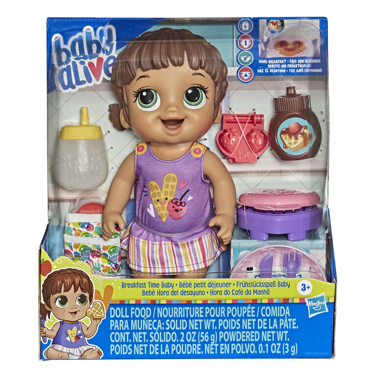 Baby Alive Breakfast Time Baby Doll with Waffle Maker, Accessories, Drinks, Wets, Eats