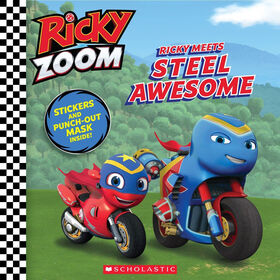 Scholastic - Ricky Zoom - Ricky Meets Steel Awesome - Édition anglaise
