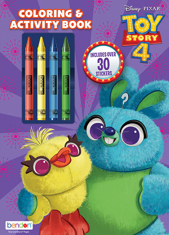 Toy Story 48 Page Colouring & Activity Book with Crayons