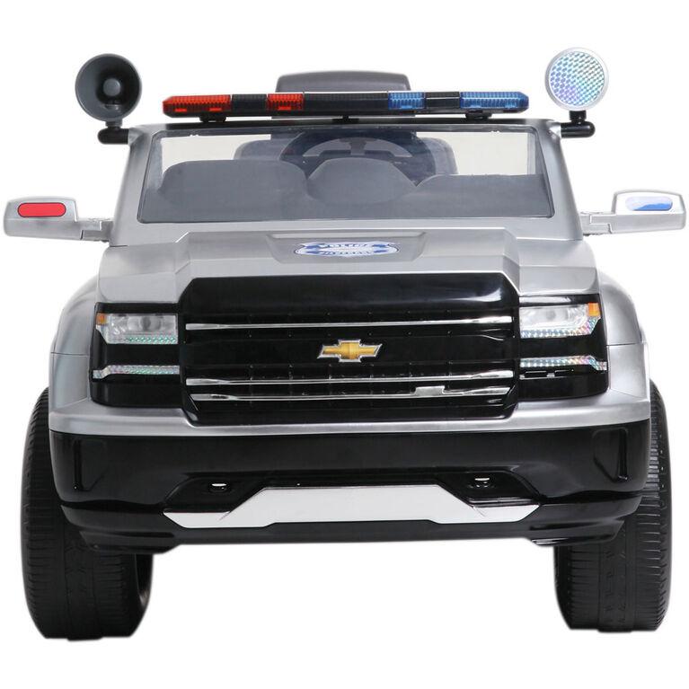 Camion de police Chevy Silverado 6V.