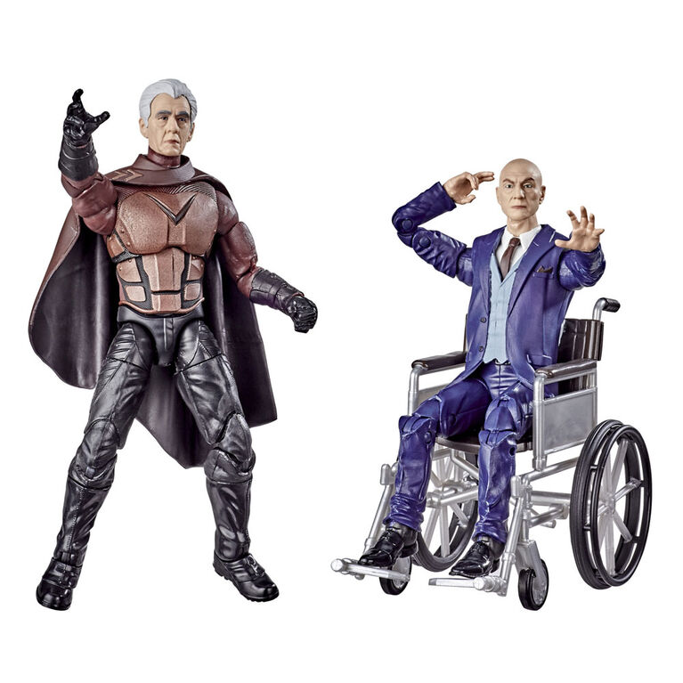 Hasbro Marvel Legends Series X-Men Magneto and Professor X 6-inch Collectible Action Figures Toys