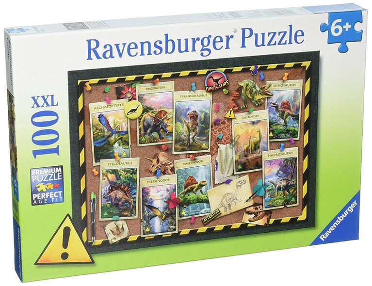Ravensburger: Animals - Dinosaur Collection Puzzle (100pc)