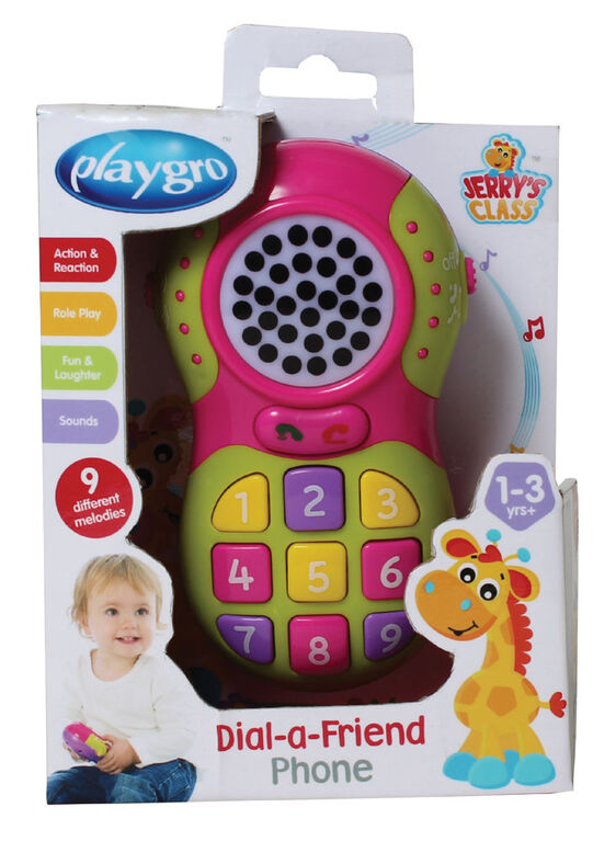Playgro - Dial-a-Friend Phone Pink
