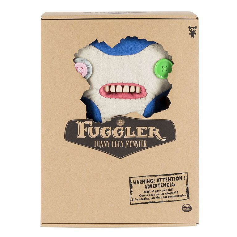 "Fuggler - Funny Ugly Monster, 12"" Lil' Demon (Blue) Deluxe Plush Creature with Teeth"